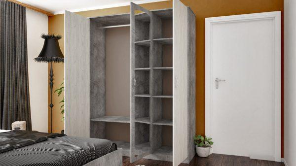 Спален комплект Сирена - разпределение гардероб