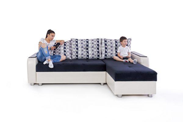 Ъглов диван Golden с механизъм за сън