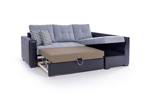 Ъглов диван Рейна с площ за сън