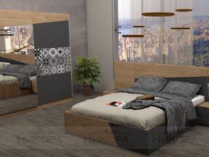 Спалня Ориноко включва гардероб, легло и нощни шкафчета