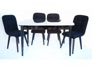 Комплект трапезна маса и 4 стола Amur