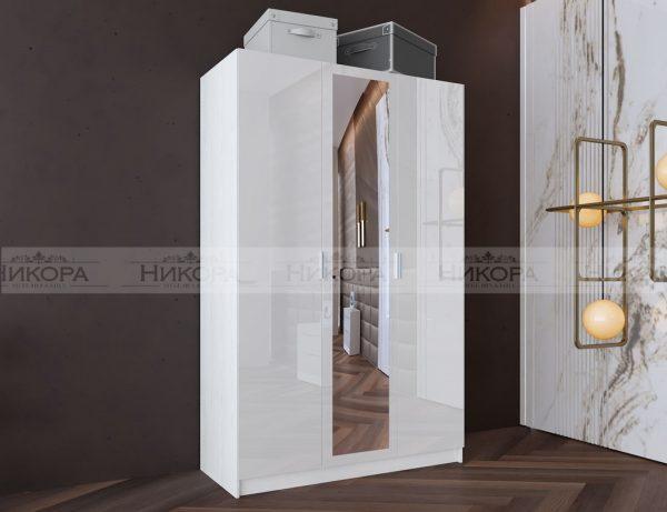Бял гардероб City 1026