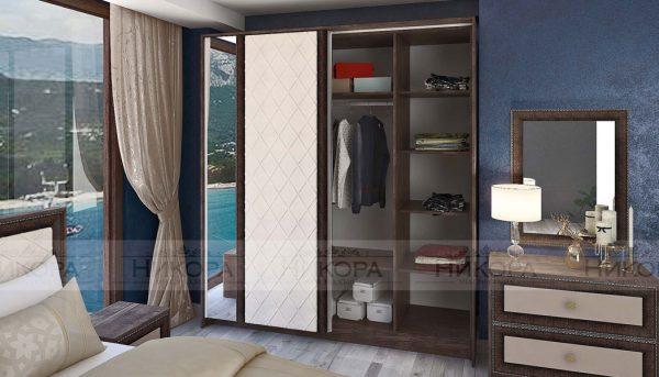 Спален комплект Корсика - гардероб разпределение