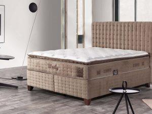Тапицирано легло с матрак Wooly