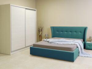 Спален комплект London с тапицирано легло