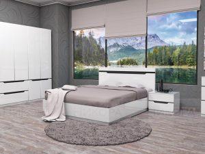 Бял спален комплект Аляска