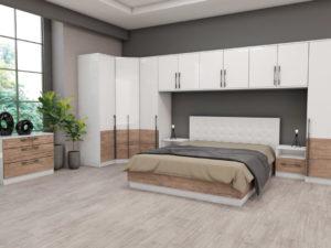 Модулна спалня Калифорния - конфигурация с надстройки