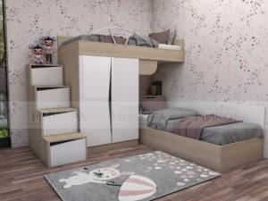 Модулно детско обзавеждане Марти с двуетажно легло