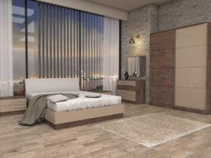 Спален комплект Карина - легло с тапицирано легло