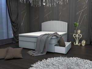 Тапицирано легло Виктория с чекмеджета